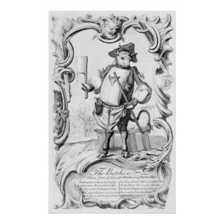 The Butcher, published 1746 Poster