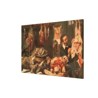 The Butcher's Shop Canvas Print