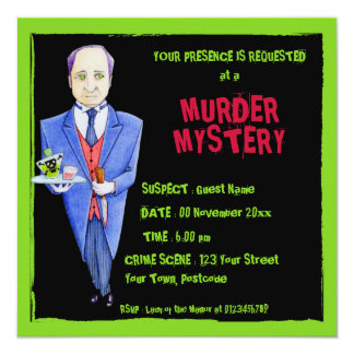 The Butler black Murder Mystery Invitation