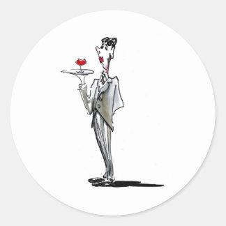 The Butler Classic Round Sticker