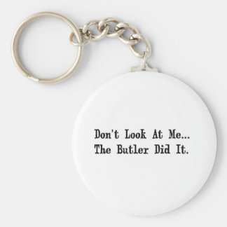 the butler did it keychain