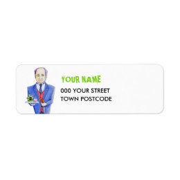 The Butler Return Address Label