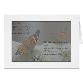 The butterflies have flown…. card