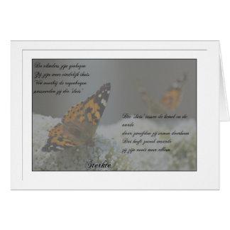 The butterflies have flown…. card