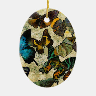 The Butterfly Collection Ceramic Oval Ornament