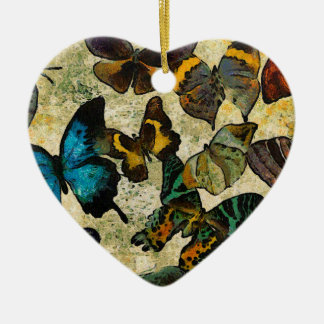 The Butterfly Collection Ceramic Heart Ornament