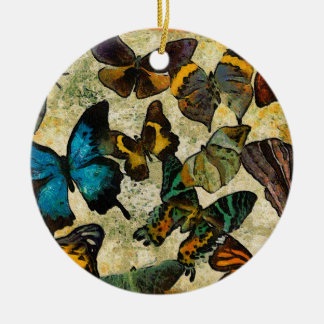 The Butterfly Collection Round Ceramic Ornament