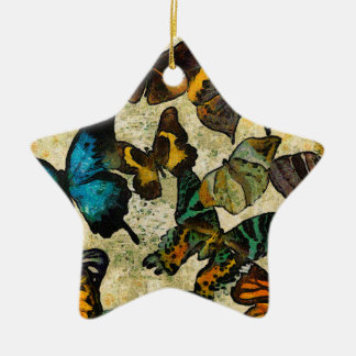 The Butterfly Collection Ceramic Star Ornament