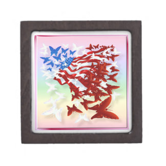 The Butterfly Flag2 gift box Premium Trinket Boxes