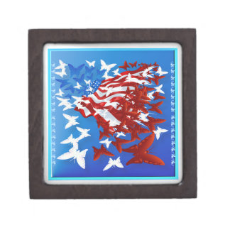 The Butterfly Flag gift box Premium Jewelry Box