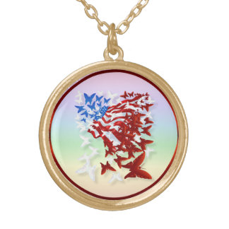 The Butterfly Flag Necklace