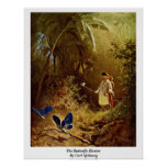 The Butterfly Hunter By Carl Spitzweg Posters