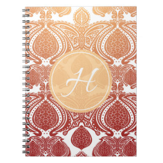 The Butterfly Monogram Spiral Note Book