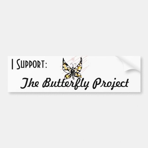 The Butterfly Project Bumper Stickers