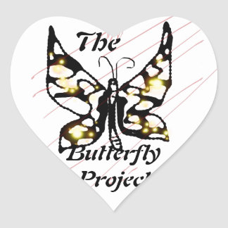 The Butterfly Project Heart Sticker