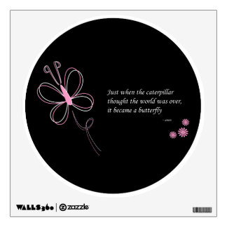 The Butterfly Quote Wall Decal