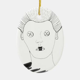 The Button Queen Ceramic Ornament
