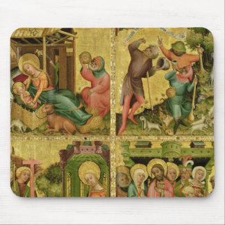 The Buxtehude Altar, right wing, 1400-10 Mouse Pad