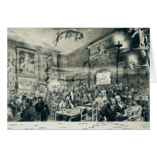 The Cabaret du Chat Noir, 1886 Card