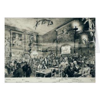 The Cabaret du Chat Noir, 1886 Greeting Card