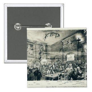 The Cabaret du Chat Noir, 1886 Pinback Button