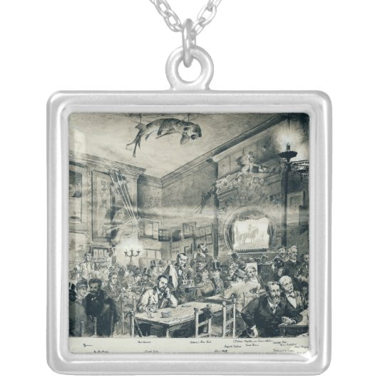 The Cabaret du Chat Noir, 1886 Silver Plated Necklace