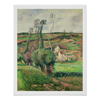 The Cabbage Slopes, Pontoise, 1882 Poster