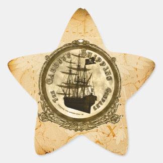 The Cabbity Shipping Co - Treasure Map Star Sticker