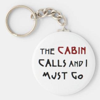 the cabin calls keychain