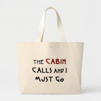 the cabin calls large tote bag