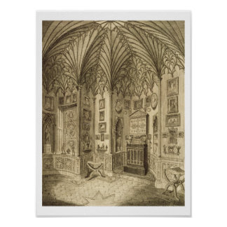 The Cabinet, engraved by T. Morris, from 'Descript Poster