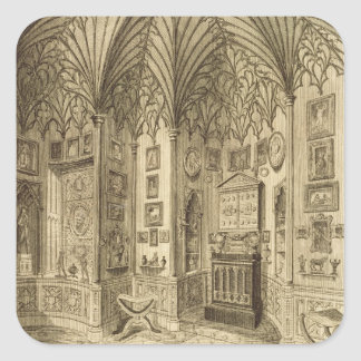 The Cabinet, engraved by T. Morris, from 'Descript Square Sticker