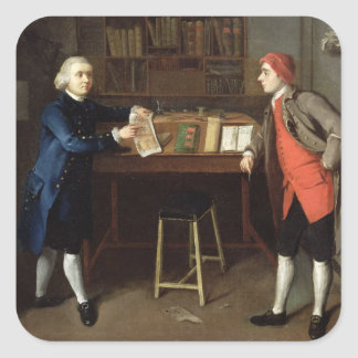 The Cabinet-Makers (oil on canvas) Square Sticker