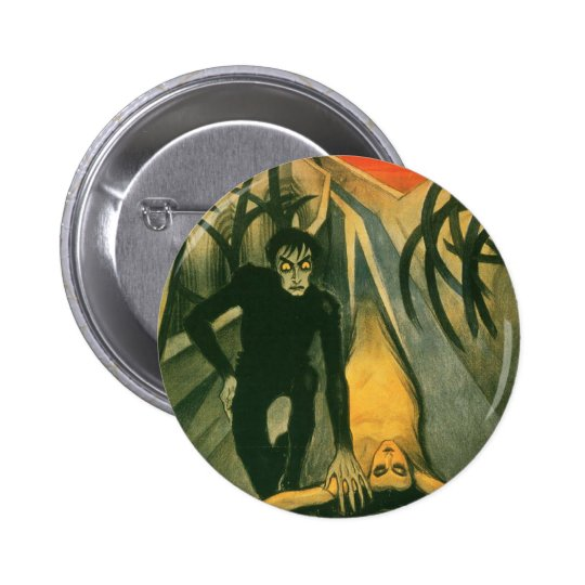 The Cabinet of Dr Caligari movie poster Button