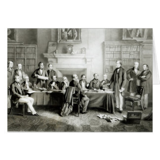The Cabinet of Lord Derby of 1867, 1868 Greeting Card