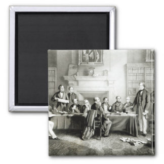 The Cabinet of Lord Derby of 1867, 1868 2 Inch Square Magnet