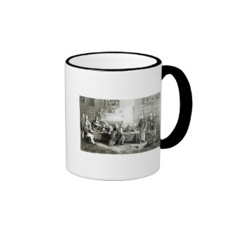 The Cabinet of Lord Derby of 1867, 1868 Ringer Coffee Mug