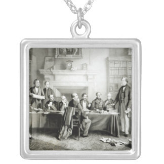 The Cabinet of Lord Derby of 1867, 1868 Square Pendant Necklace