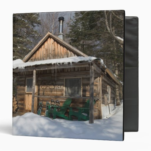 The cabins at the AMC's Little Lyford Pond Vinyl Binders