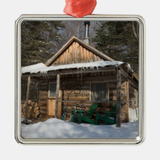 The cabins at the AMC's Little Lyford Pond Metal Ornament