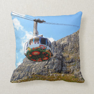 The Cable Car for Table Mountain Pillow