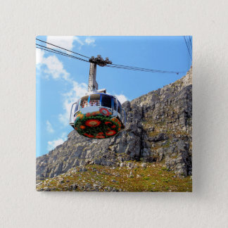 The Cable Car going up Table Mountain in Cape Town Pinback Button