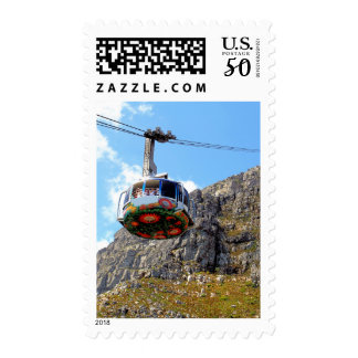 The Cable Car going up Table Mountain in Cape Town Postage