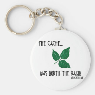 The Cache was worth the rash! Basic Round Button Keychain