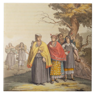 The Caciche Indians in Traditional Costumes, Nova Tile