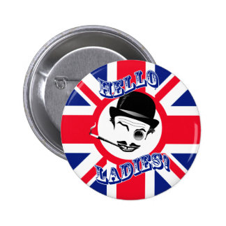 "The Cad's Union Jack ""Hello Ladies!"" 2 Inch Round Button"