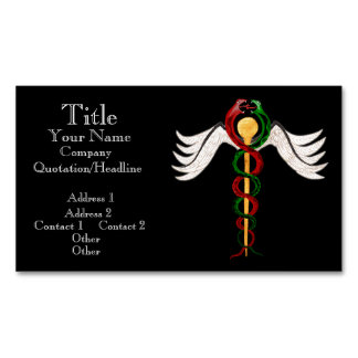 The Caduceus (Full Colour) Business Card Magnet
