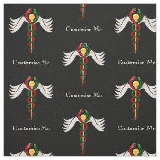 The Caduceus (Full Colour) Fabric