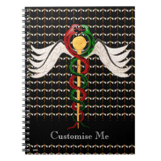 The Caduceus (Full Colour) Spiral Note Book