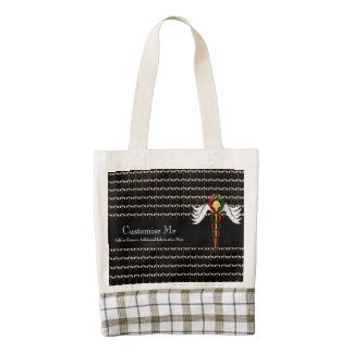 The Caduceus (Full Colour) Zazzle HEART Tote Bag